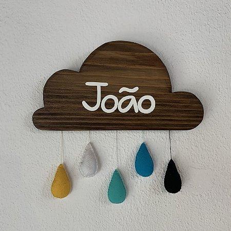 """Nuvem """"João"""" em pinus escurecido"""