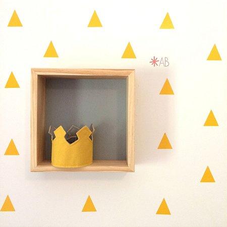 Adesivo de Parede Triângulos para decoração de quartos infantis