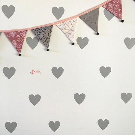 Adesivo de Parede Corações para decoração de quartos infantis