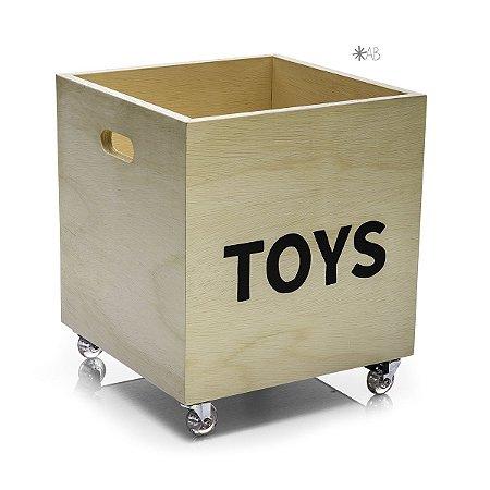Caixote para armazenar brinquedos