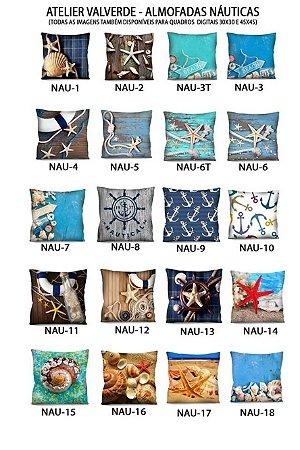 KIT 5 Capas - Almofadas Nautica 42x42 - A Escolher