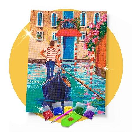 Pintura com Diamantes - Cidades:  Veneza 30x42