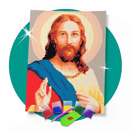Pintura com Diamantes -  Jesus 30x42