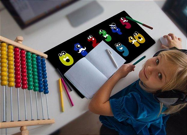 Mouse Pad / Desk Pad Grande 30x70 Linha Infantil - Numeros Divertidos