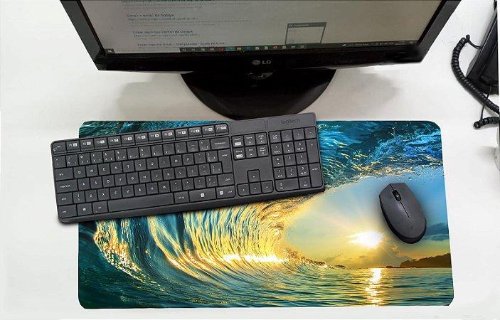 Mouse Pad / Desk Pad Grande 30x70 Paisagem - onda do mar