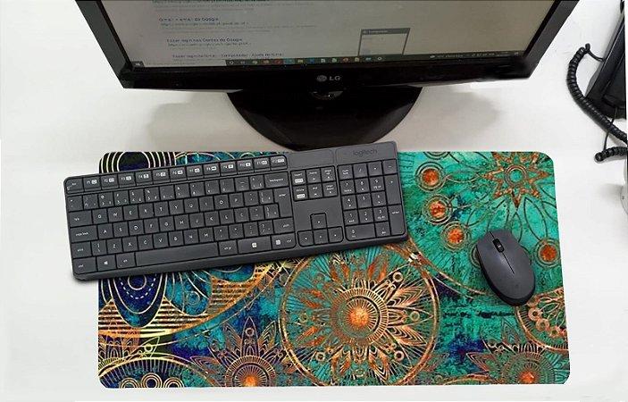 Mouse Pad / Desk Pad Grande 30x70 Paisagem - Mandala Tiffany