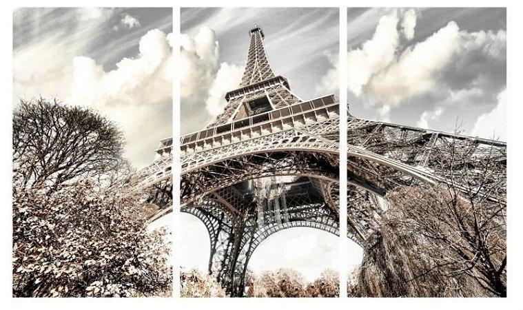 Quadro Digital - Torre Eiffel - 100x200 - 3pçs
