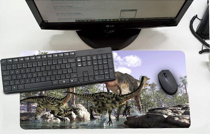 Mouse Pad / Desk Pad Grande 30x70 Infantil - Dinossauro