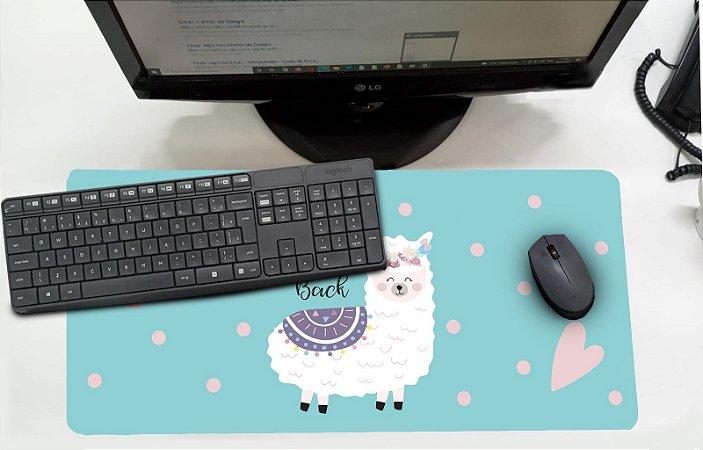 Mouse Pad / Desk Pad Grande 30x70 Infantil - Lhama