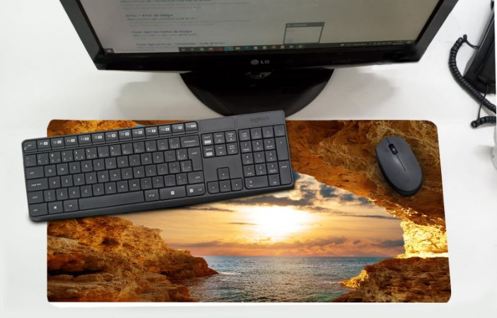Mouse Pad / Desk Pad Grande 30x70 - Pedra Sol