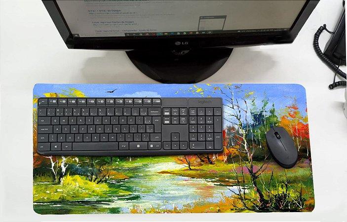 Mouse Pad / Desk Pad Grande 30x70 - Bosque