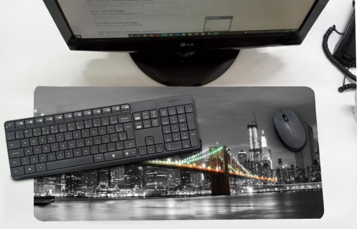 Mouse Pad / Desk Pad Grande 30x70 - Ponte Manhattan