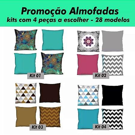 KIT 4 Capas de Almofada 42x42 - A Escolher