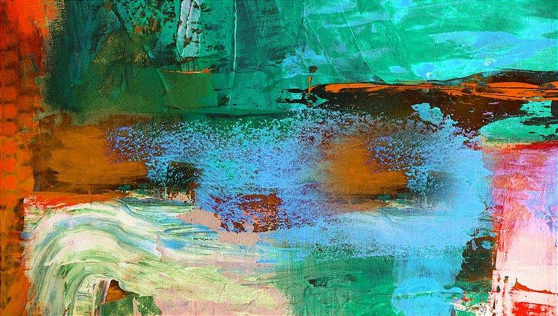Quadro Abstrato Azul CL - Diversos Tamanhos