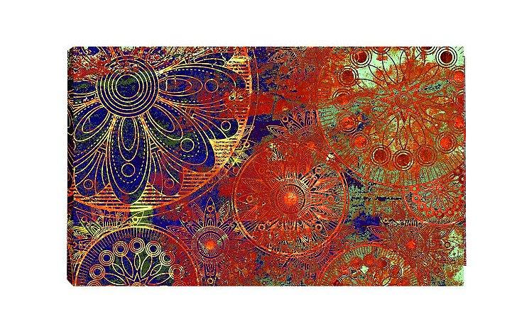 Quadro Mandala Vermelha  - Diversos Tamanhos