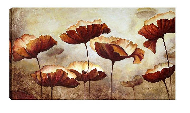Quadro Floral Marrom  - Diversos Tamanhos