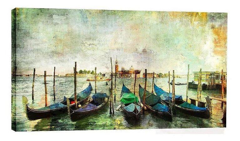Quadro Barcos Praia Veneza - Diversos Tamanhos