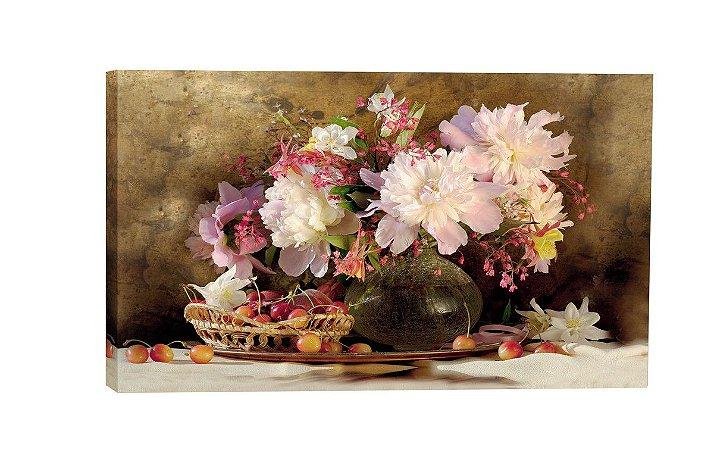 Quadro Vaso Flores/Uvas ( ID55-03 ) - Diversos Tamanhos