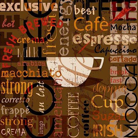 Quadro Cafe Marrom - 30x30