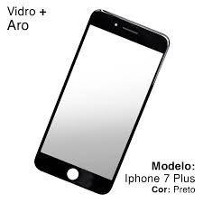 Vidro iPhone 7 Plus com Aro