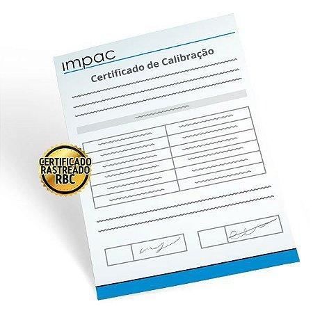 Certificado de Calibração Rastreável p/ Calibrador 4 a 20mA