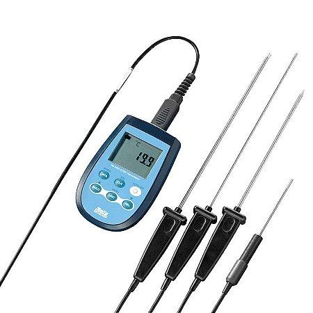 Termômetro Digital Portátil Alta Precisão PT-100 HD-2307 Delta