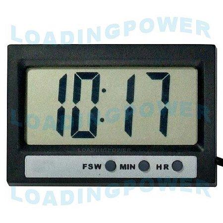 Termômetro Digital com Relógio Sensor Interno e Externo ST-2
