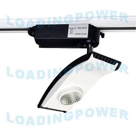 Luminária Led 20W Articulada para Trilho