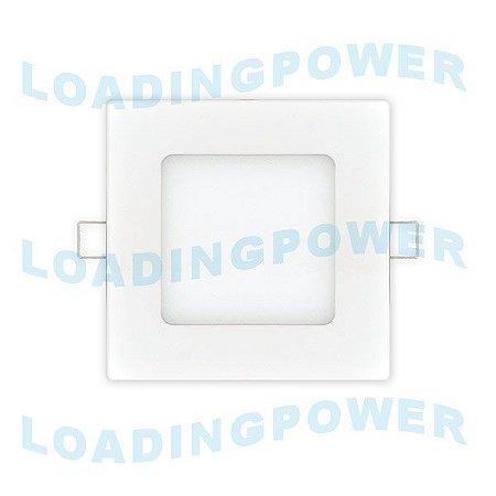 Painel Plafon Led Ultrafino Quadrado de Embutir 6W