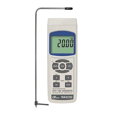 Anemômetro de Tubo de Pitot e Manômetro Diferencial PAM-9212SD