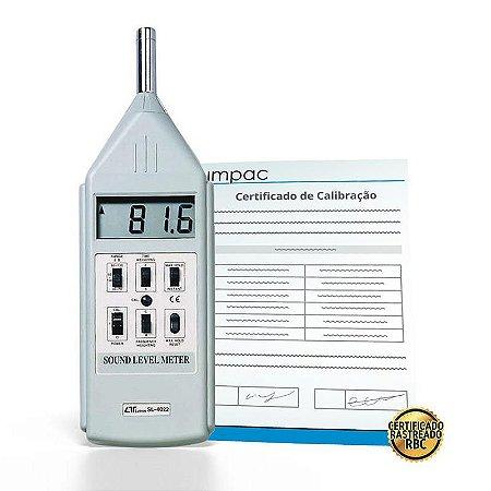 Decibelímetro Digital Tipo 1 SL-4022 + Certificado de Calibração Rastreável