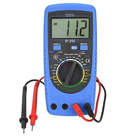 Multímetro Digital com Capacímetro 1000V IP-315 Impac