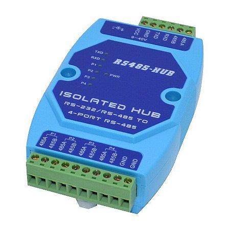 Hub Isolado com 1 entrada RS-232 e 4 saídas RS-485 IP-6041 Impac