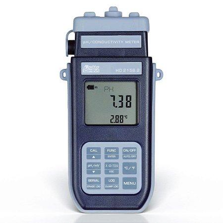 Medidor de pH e Condutividade de Bancada Datalogger HD-2156 Delta Ohm