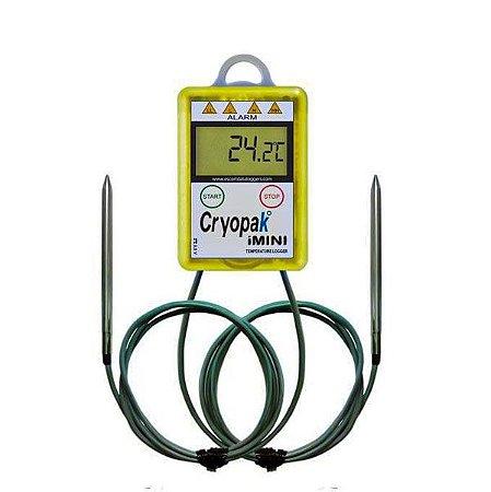 Data Logger de Temperatura com 2 sensores externos MX-2E-S-8-L