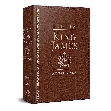 Bíblia King James Atualizada KJA (Capa Luxo Marrom)
