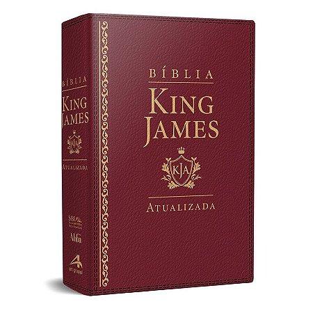 Bíblia King James Atualizada KJA (Capa Luxo Vermelha)