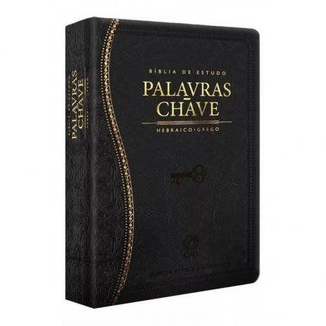 Bíblia de Estudo Palavras Chave (Capa Luxo Preta)