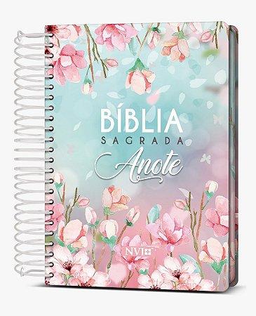 Bíblia Sagrada Anote NVI (Capa Dura Magnólia)