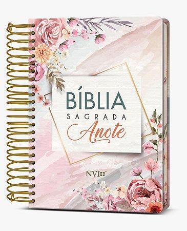 Bíblia Sagrada Anote NVI (Capa Dura Flores Aquarela)