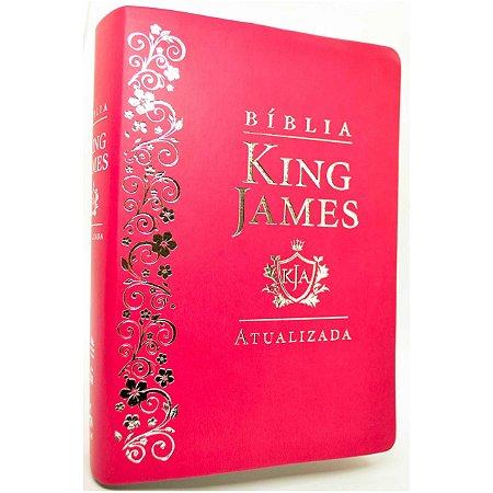 Bíblia King James Atualizada KJA Slim (Capa Luxo Pink)