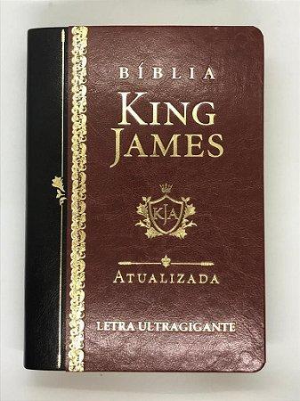 Bíblia King James Atualizada KJA Letra Ultragigante (Capa Luxo Marrom)