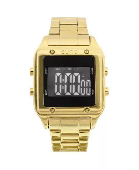 d8d2e59487e Relógio Digital Euro Feminino EUG2510AA 4P Dourado - Megamix Eletro
