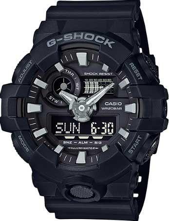 2c1b5bd887c Relógio Casio Standard Masculino Analógico Digital G-Shock GA-700-1BDR -