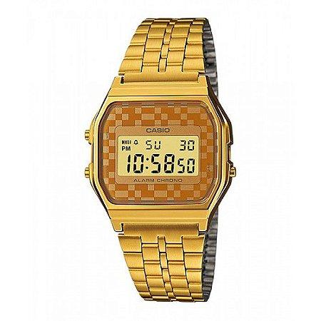 df7b827463f Relógio Casio Vintage Digital - A159WGEA-9ADF- Dourado - Megamix Eletro