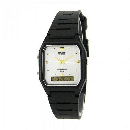 7e3f512256e Relógio Casio Vintage Digital Analógico - AW-48HE-7AVDF - Megamix Eletro