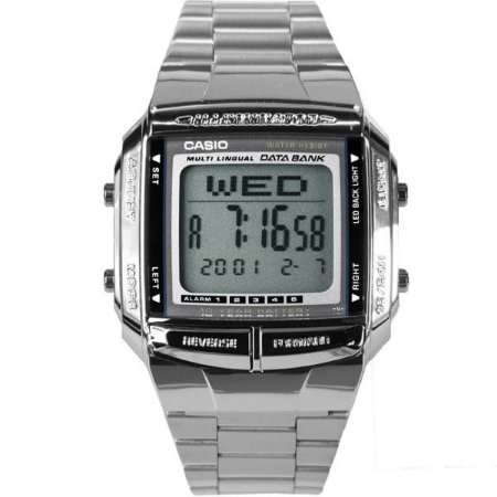 fea6825e6ef Relógio Casio Vintage Digital - DB360-1ADF - Prata - Megamix Eletro