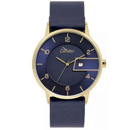 b22a6b237c1 Relógio Masculino Condor COGM10AB 2A - Dourado Azul - Megamix Eletro