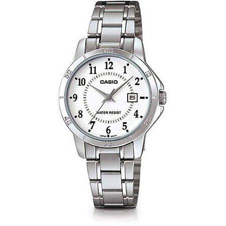 3e4e26370b3 Relógio Feminino Casio Aço Inox Folheado Ltp-v004d-7budf - Megamix ...