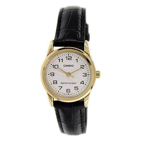 75b3a842995 Relógio Casio Feminino Ltp-v001gl 7budf Dourado Analogico - Megamix ...